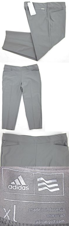 Pants 181148: Nwt! Women'S Adidas Essentials Pull On Ankle Length Grey Golf Pants Xl $80.00 -> BUY IT NOW ONLY: $64.99 on eBay!