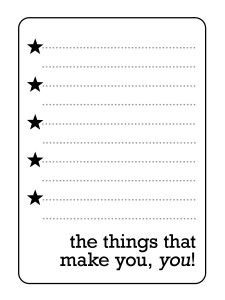Free The Things That Make You, You! Journal Card from Simple Scrapper