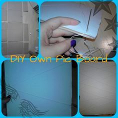 Diy Own Picture board where You can take/hold your pics on the wall(made by paper)