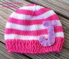 CUSTOM Personalized  Girls Initial  Hat by NinisHandmades on Etsy, $24.99
