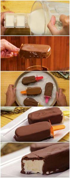 Picolé de Leite Ninho, fácil e delicioso! ❤️ (veja a receita passo a passo) #picolé #leiteninho #picolédeleiteninho #tudogostoso