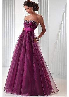 Prom Dress Covered With Crystal Tulle Strapless Floor Length Sleeveless From Ras