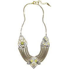 Art Deco Chain Swag Statement Necklace ($148) via Polyvore