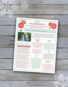 X  Year In Review  Christmas Newsletter Template In Pdf For