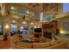 Interior of luxury home in Indian Rocks Beach, Florida