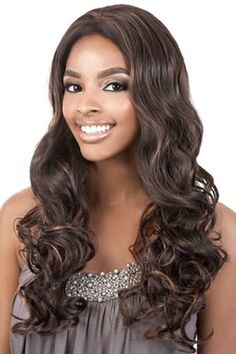 Beshe Wig Lace Front Synthetic Long Wavy Style High Temp for sale online Curl Styles, Wig Styles, Long Hair Styles, Synthetic Lace Front Wigs, Synthetic Wigs, Ebony Hair, Brown To Blonde, Brown Hair, Long Layered Hair
