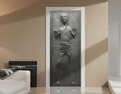You know you want this door decal of Han Solo stuck in carbonite. The 32-inch by 80-inch laminated graphic can be attached and reattached to both doors and walls and is specially designed to create that great 3D-like effect. It really does look like Han could climb right out of there, at least in the sample images.