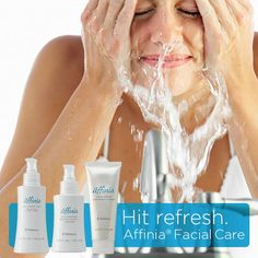 Hit refresh. Help your skin get rid of yesterday and get a fresh start on today with Affinia Facial Care. www.Melaleuca.com/affiniafacialcare