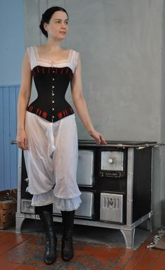 Before the Automobile: coutil 1880's corset