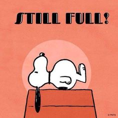 Most people hours after Thanksgiving dinner & just before they go back for more! 8-)