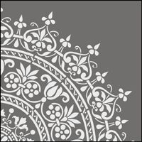 This image just shows a section of the design. Click to see the full stencil design. From stencil-library.com