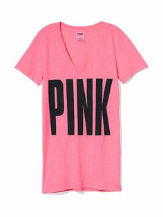 Campus Pocket Tee PINK SC-342-641 (093) | Victoria' Secret Pink ...