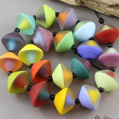 Magma Beads ~Rainbow bicones~ Handmade Lampwork Beads. | Jewelry & Watches, Loose Beads, Lampwork | eBay!