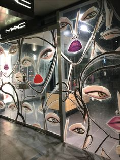 """MAC COSMETICS, Britomart, Auckland CBD, New Zealand, """" May the wings of your eye liner always be even"""", photo/uploaded by Ton van der Veer"""