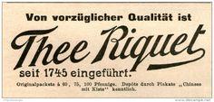 Original-Werbung/ Anzeige 1903 - THEE ( TEE ) RIQUET - ca. 90 x  50 mm
