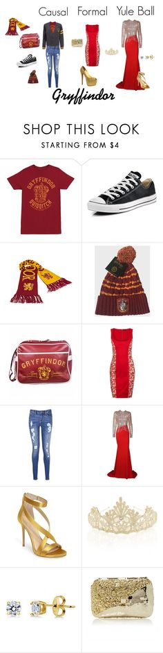 """""""Gryffindor"""" by narcissa-bellatrix-andromeda ❤ liked on Polyvore featuring Converse, La Perla, Tommy Hilfiger, Imagine by Vince Camuto, Monsoon, BERRICLE, Anndra Neen and Christian Louboutin"""