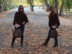 Poncho Style :) #fallfashion #streetstyle #autumnlook #ootd #outfit #style #fashionblogger #poncho #cape #october
