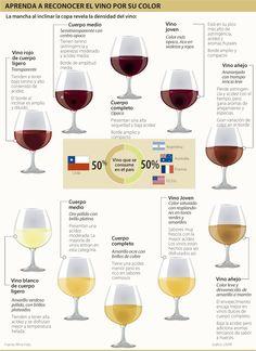Aprenda a Reconocer el Vino por su Color #Bebidas
