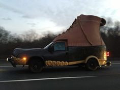 Photo of Crazy Boot Truck on Highway