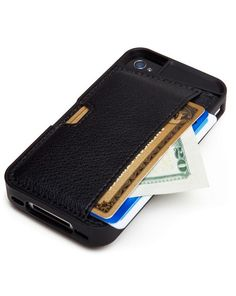 The Q Card iPhone Wallet - Carry your phone, cards and cash in one case.
