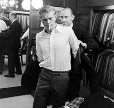 "Doug Hayward fitting Steve McQueen.. Thomas Crown was ""smart"".."
