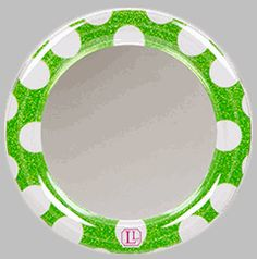 Layer on the style with this glittery, green polka dot locker mirror from Locker Lookz! Add other mix-and-match accessories to turn a boring school locker into a fun place to stash your stuff.   BettesGifts.com   $5.99