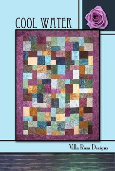 Cool Water - A Villa Rosa Pattern (45 x 63) or (56 x 74 with Optional Border)