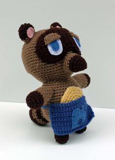 Tom Nook Animal Crossing Inspired Tanuki Crochet by MilesofCrochet