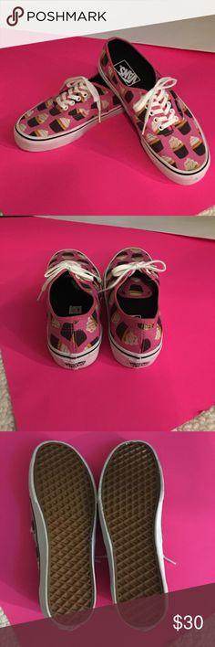 Vans cupcakes sneakers Super cute VANS Never Worn Vans Shoes Sneakers