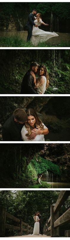 Waterfall Engagement Photos