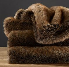 faux fur throw, on sale NOW at RH <3