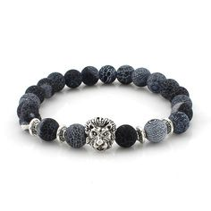 Hot Lion Buddha Beads Bracelets. 30% proceeds from every purchase goes to animal charities.
