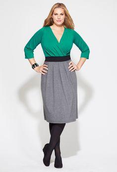 Plus Size Banded Pleat Front Dress | Plus Size View All Dresses | Avenue