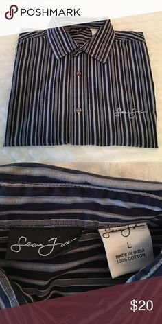 Sean John Shirt Button down, stripe in excellent condition (Macy's). Worn just a couple of times, no stains or tears. Sean John Shirts