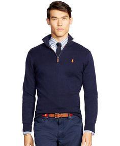 Polo Ralph Lauren Half-Zip Pima Sweater