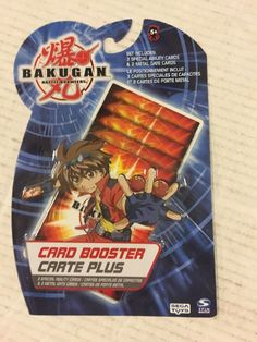 Bakugan Battle Brawlers Booster Pack Haos by Sega Brand New and Sealed Promo