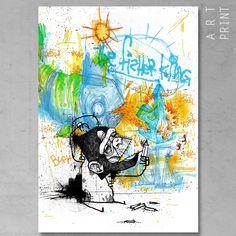 Art Print de KÖfi30x42 cm - Papier Fine Art 310 gr - Encre à pigments minérale40 exemplaires, numérotés et signés par l'artiste