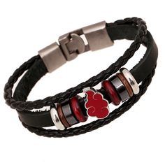 Naruto Handmade Genuine Leather Vintage Bracelet //Price: $9.99 & FREE Shipping //   #goku #anime