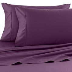Bed Bath And Beyond Jersey Sheets Prepossessing Pure Beech® Jersey Knit Sheet Set  Purple  Boudoir  Pinterest Design Decoration