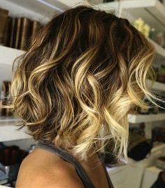 25 Medium Length Hairstyles Youll Want to Copy Now. Love the curls and blond highlights.
