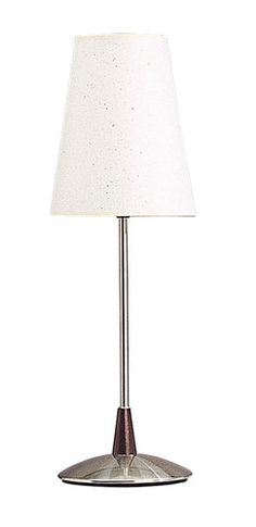"Cal Lighting BO-780 60 Watt 24.5"" Contemporary / Modern Metal Table Lamp with On/Off Switch and Round Hardback Fabric Shade"