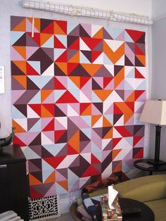 This is a SUPER simple quilt to make BUT makes a BIG impact because the colors are so vibrant against each other!