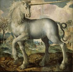 'Unicorn'. Maerten de Vos. 1572. Unicorn Painting, Unicorn Art, Unicorn Head, Vintage Mermaid, Mermaid Art, Renaissance, Mythical Creatures Art, Fairytale Creatures, Thing 1