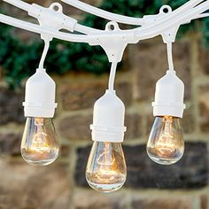 Brightech™ Ambience Pro - Outdoor Commercial String Lights with 11S14 Bulbs - 48 Feet String Light with 15 Heavy Duty Molded Rubber Light Sockets - Create a Unique Retro Look and Feel - Includes Hanging Loops - UL Listed for Indoor and Outdoor Use - White null http://www.amazon.com/dp/B00WVOV0WK/ref=cm_sw_r_pi_dp_wLfLvb0EZ86J4