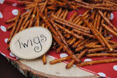 "woodland party - pretzel ""twigs"""