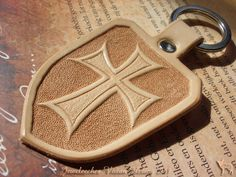 All handmade, handtooled and designed by Jeweleeches… Leather Carving, Leather Art, Leather Harness, Leather Gifts, Custom Leather, Leather Tooling, Diy Leather Earrings, Leather Lanyard, Leather Keychain
