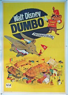 Dumbo Spain One Sheet 40x28in aprox R1966 by rearwindowposters, $310.00