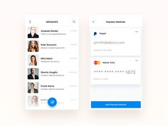 Message and Payment - UI UX Design by Nimasha Sewwandi Perera #Design Popular #Dribbble #shots