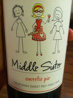 Perfect for the 'middle sister' wine lover!!