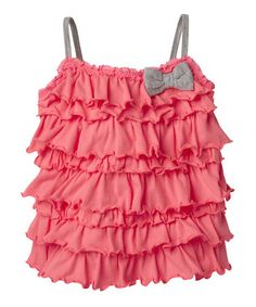 Take a look at this Neon Rose Ruffle Bow Tank - Infant Toddler by RUUM on today! Little Girl Fashion, Fashion Kids, Toddler Fashion, Cute Baby Girl, Girly Girl, My Girl, Cute Outfits For Kids, Cute Kids, Little Fashionista